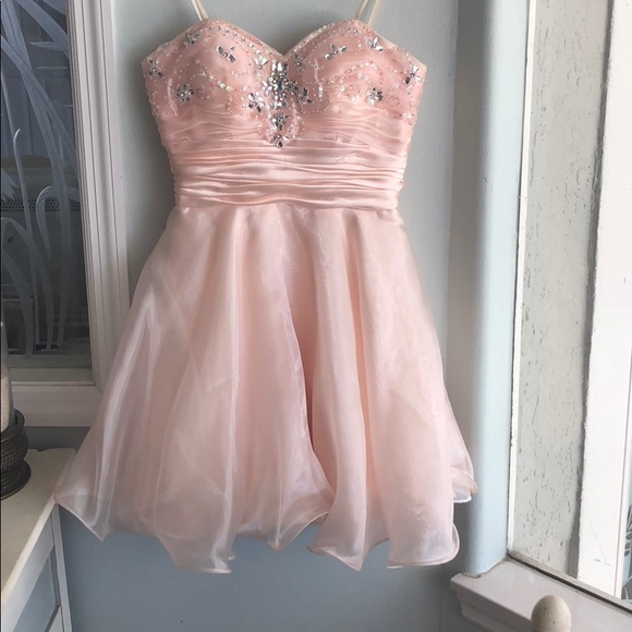 Short Pink Homecoming Dresses PromGirl